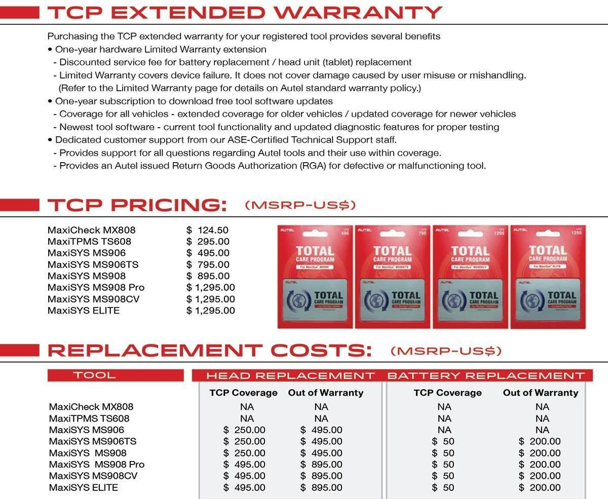 Agile Truck Tools TCP Extended Warranty